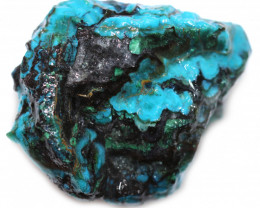 103.30 CTS CHRYSOCOLLA  WITH GEM SILICA - BRAZIL [F8772]