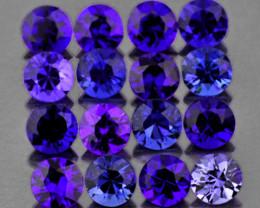 1.90 mm Round 25 pcs Unheated Violet-Blue Sapphire [VVS]