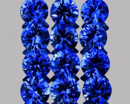 2.60 mm Round 12 pcs 1.01ct Blue Sapphire [VVS]