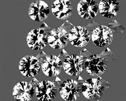 1.90 mm Round 25 pcs White Sapphire [VVS]