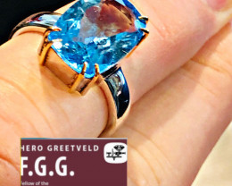 Blue Topaz Ring/ Silver/ Handmade in Germany