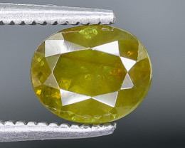1.20 Crt Natural Sphene Faceted Gemstone.( AB 45)