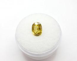 Yellow Zircon, 3.28ct  - Natural Gemstone - Oval Cut