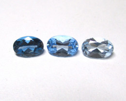 1.66tcw Blue Topaz Color Master Set