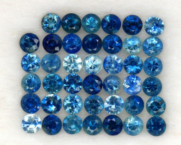 4.06 ct. 2.7 MM. NATURAL GEMSTONE BLUE SAPPHIRE DIAMOND CUT 41 PCS.