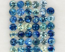 4.04 ct. 2.7 MM. NATURAL GEMSTONE MULTI COLOR SAPPHIRE DIAMOND CUT 41PCS.