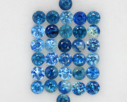 4.03 ct. 2.9 MM. NATURAL GEMSTONE BLUE SAPPHIRE DIAMOND CUT 33PCS
