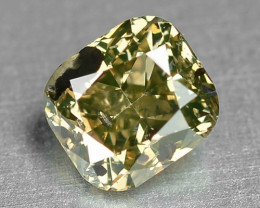0.42 Cts Natural Fancy Greenish Yellow Color Loose Diamond