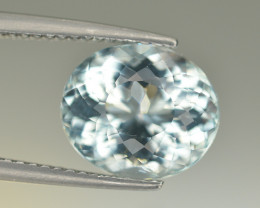 Amazing Color 4.05 Ct Natural Aquamarine