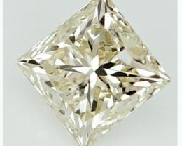 Light Yellow Diamond , Diamond With Natural Impurities , 0.51 cts