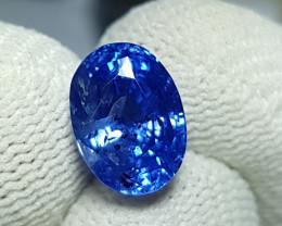 NO HEAT 5.49 CTS CERTIFIED NATURAL STUNNING CORNFLOWER BLUE SAPPHIRE CEYLON