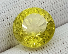 6.55CT CONCAVE LEMON QUARTZ BEST QUALITY GEMSTONE IIGC11