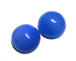 6.48tcw Blue Chalcedony Matching Round Cabochons