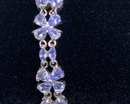 (45) Stunning 10.06ct. VS Tanzanite Bracelet Unheated