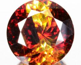 8.45 Cts Natural Fire Sunset Yellow Sphalerite Round Cut Spain Gem