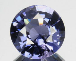 1.46 Cts Beautiful Natural  Purple Blue Spinel Round SriLanka Gem