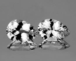 12x8 mm Pear 2 pcs 7.85cts White Topaz [VVS]