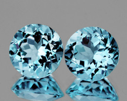 7.00 mm Round 2 pcs 3.08cts Sky Blue Topaz [VVS]