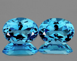 16x12 mm Oval 2pcs 22.72cts Soft Swiss Blue Topaz [VVS]