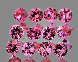 2.50 mm Round 12 pcs Pink Sapphire [VVS]