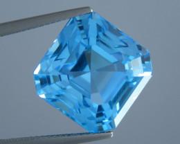 23.62 carat Beautiful Octagon Cut Swiss Blue Colour Topaz