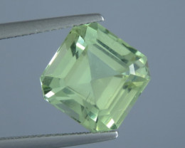 7.34 carat Natural Beautiful Octagon Cut Mint Green Colour apatite From Afg