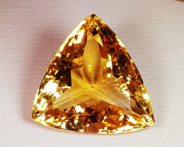 18.90 ct Top Quality Triangle Cut Golden Orange Natural Citrine