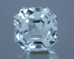 7.24 carat Natural Beautiful Asscher Cut Aquamarine From Pakistan