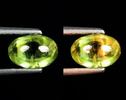 1.34 Ct Natural Sphene Color Change Cabochon Gemstone. SPC 28