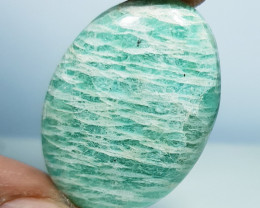 33.50 ct Natural Amazonite Oval Cabochon  Gemstone