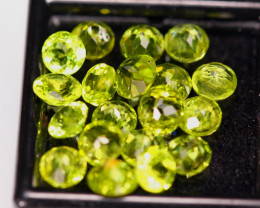10.77ct Natural Green Peridot Round Cut Lot GW8328