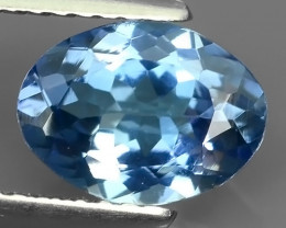 1.50 Cts Extreme Oval Cut8.66X6.75mm Natural Mint Blue Tanzanite Excellent!