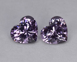 5.40 Cts Magnificent Beautiful Matching Pair Natural Grey Spinel