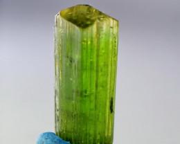 5 CT Natural - Unheated Green Tourmaline Crystal