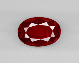 Ruby, 1.46ct - Mined in Burma   Certified by GRS