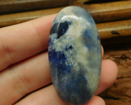 African sodalite cabochon bead (G1863)