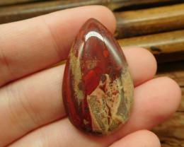 Red jasper cabochon bead (G1864)