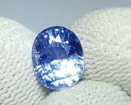 NO HEAT 2.40 CTS CERTIFIED NATURAL STUNNING BLUE SAPPHIRE SRI LANKA