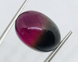 25.85 Carats  Bi Color Tourmaline Cabochon