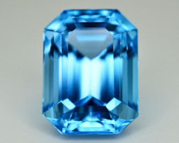 Amazing Quality 19.00 Ct Natural Swiss Blue Color Topaz. RA