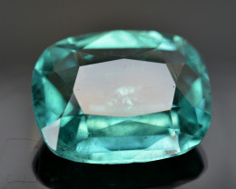 GIL Certified 5.55 Ct Neon Green Color Paraiba Tourmaline .