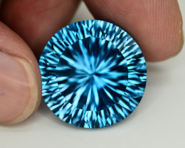 Amazing Laser Cut 33.70 Ct Natural Swiss Blue Color Topaz