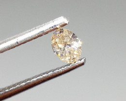 0.29ct  Light Brown Diamond , 100% Natural Untreated