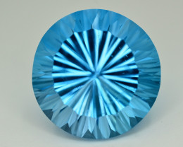 Amazing Laser Cut 36.00 Ct Natural Swiss Blue Color Topaz