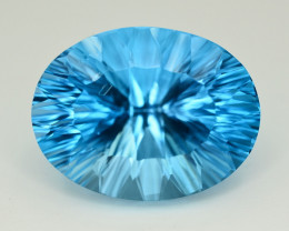 Amazing Laser Cut 40.70 Ct Natural Swiss Blue Color Topaz