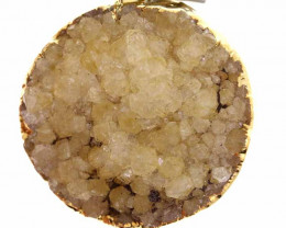 80.55 CTS CITRINE CRYSTAL GOLD PLATED PENDANT SG-3193