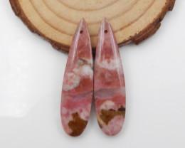 46.5cts Rhodonite earrings ,natural rhodonite earrings ,healing stone F724
