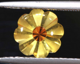 1.72 CTS- CITRINE FLOWER CARVING     LG-3