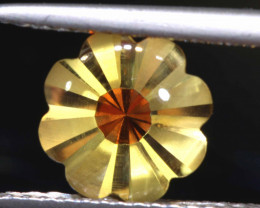 1.70  CTS -CITRINE FLOWER CARVING   LG-4