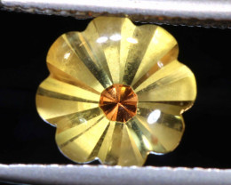 1.60  CTS-CITRINE FLOWER CARVING   LG-13
